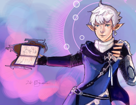 Alphinaud Inktober colored