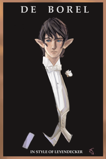 Aymeric in style of Leyendecker ad